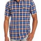 DC Shoes Mens S Jocko Blue Plaid Short Sleeve Button-down Shirt Men's Small