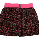 Hello Kitty Girls Size M Hot Pink and Black Skirt Kids Youth Neon New