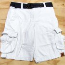 Urban Pipeline Boys Size 10 Ripstop Cargo Shorts with Belt Chalk White