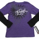 Tony Hawk Boys L 14-16 Purple Long Sleeve T-shirt Mock Layer Tee Shirt