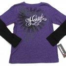Tony Hawk Boys L 14-16 Purple Long Sleeve T-shirt Mock Layer Tee Shirt