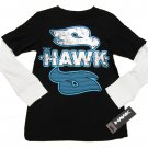 Tony Hawk Boys L 14-16 Black Long Sleeve T-shirt with Blue and Silver Logo Mock Layer Youth