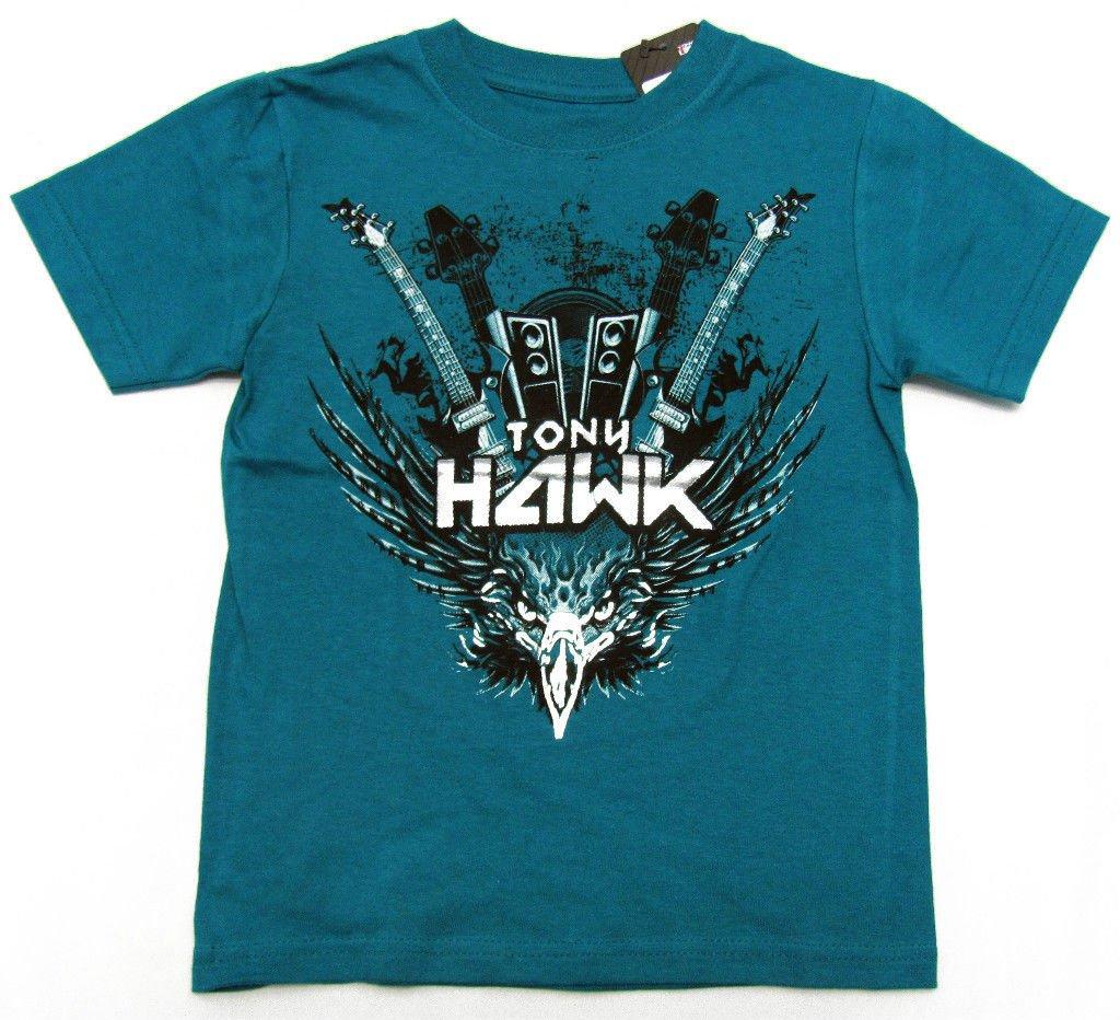 Tony Hawk Boys size 4 Blue Rock T-shirt Short Sleeve Crew Tee Shirt Kids New