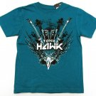 Tony Hawk Boys size 4 Blue Rock T-shirt Short Sleeve Crew Tee Shirt Kids New