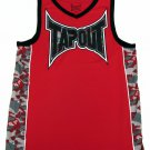 TapouT Boys L 14-16 Red Sleeveless V-neck Polyester Tank Top Youth Gym Shirt Gray Camo