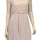 The Vintage Shop Juniors L Beige Cross Sleeveless Tea Dress with Sheer Yoke New