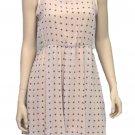 The Vintage Shop Juniors L Beige Cross Sleeveless Tea Dress with Sheer Yoke New
