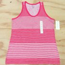 Sonoma Womens XS Pink Stripe Tank Top Extra Small Sleeveless Shirt
