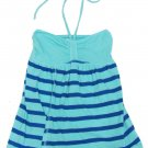 SO Girls S Blue Stripe High-Low Halter Top Tube Top Shirt New