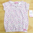 Skechers Girls size 5 White and Purple Floral Shirt with Elastic Bottom
