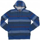 Quiksilver Mens S Cash Money Blue Stripe Hoodie Sweatshirt New