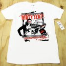 Quiksilver Mens L Dirty Jerz Tee Shirt White Short Sleeve New Jersey T-shirt