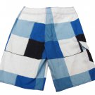 Rusty Mens size 28 Rico Swavy Boardshorts Board Shorts Blue Check Plaid Swim New