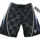 Rusty Mens size 30 Black Back In the Day Boardshorts Checker Board Shorts Swim New