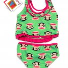 Small Paul Frank Baby Girls Tankini Swimsuit 0-3 Months Green and Pink