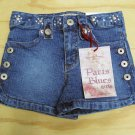 Paris Blues Girls Size 4 Blue Jean Stretch Denim Shorts New