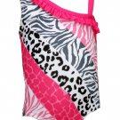 Penny M Baby Girls 18 Months Animal Print Swim Suit Swimsuit UPF 50+ Pink Gray Black