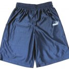 Puma Boys S Navy Blue Basketball Shorts with White Logos Gym Athletic New