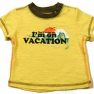 Old Navy Baby Boys 3-6 Mos Yellow Tee Shirt Funny Vacation T-shirt New