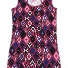 Op Juniors size S Pink Purple Diamond Print Ribbed Tank Top Shirt Ocean Pacific New