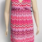 Nicole Miller New York Womens XL Pink Chevron Sun Dress or Swim Cover-Up