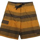 Nike Boys size 16 Orange Stripe Board Shorts Youth Boardshorts New