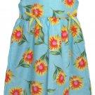 New Horizons Girls Size 6 Blue and Yellow Sunflower Sleeveless Dress Sundress
