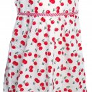 New Horizons Girls size 4 Cherry Gingham Sleeveless Dress White and Red Sundress New