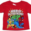 Now and Zen Boys 3T Hero In Training Tee Shirt Red Marvel Character T-shirt New
