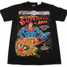 Dc Comics Mens L Superman Tee Shirt Black T-shirt Men's Large