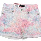 Levis Girls size 5 Neon Midi Short Mid-length Shorts with Adjustable Waistband New Levi's