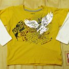 Levis Boys Size 4 Yellow Long Sleeve T-shirt with Eagle Design Levi's Kids New