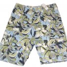 Kirra Mens Size 30 Blue Green Floral Khaki Cargo Shorts New