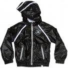 Converse Girls Size 4 Black Windbreaker Jacket