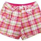 Kanu Girls size 5 Pink Plaid Surf Shorts Boardshorts Swim Kids New