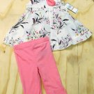 Kenneth Cole Reaction Baby Girls 18 Mos Floral Tunic and Leggings 2-Piece Set