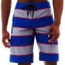 DC Shoes Mens sz 28 Blocked Out Boardshorts Board Shorts Blue & Gray Stripe