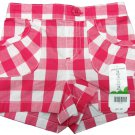 Jumping Beans Baby Girls 12 Mos Pink and White Plaid Shorts