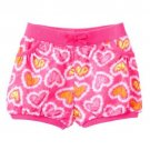 Jumping Beans Baby Girls 9 MOS Pink Tie-Dye Heart Bubble Shorts