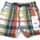 Jumping Beans Baby Boys 3 Mos Brown Plaid Shorts