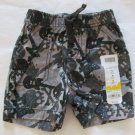 Jumping Beans Baby Boys 9 Months Gray Camo Canvas Shorts Guitars and Skulls
