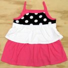 Jumping Beans Girls size 4 Polka Dot Tiered Sleeveless Tunic Shirt