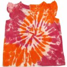 Jumping Beans Baby Girls 18 MOS Pink and Orange Tie-Dye Tee Shirt New T-shirt