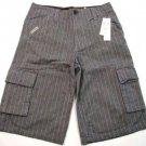 Calvin Klein Jeans Boys size 18 Gray Pinstripe Shorts New