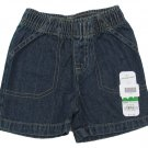 Jumping Beans Baby Boys 6 Months Dark Tint Blue Jean Shorts Denim New
