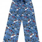 Jelli Fish Kids Girls S 6-6X Blue School Theme Pajama Pants
