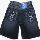 Jean Station Boys size 4 Dark Blue Jean Shorts New