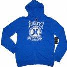 Hurley Mens M Lone Wolf Hoodie Heather Blue Sweatshirt with White Logo