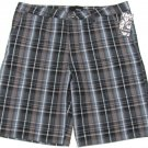 Hurley Mens Size 38 Gray Plaid Shorts Reagan Casual Short New