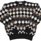 Bellagio Mens M Diamond Pattern Heavy Sweater Long Sleeve Medium New